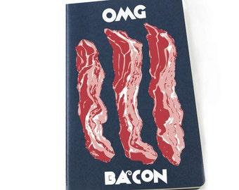 OMG Bacon Moleskine sketchbook/notebook