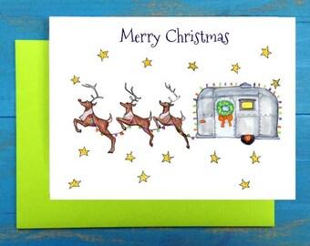 Merry Christmas Trailer greeting card