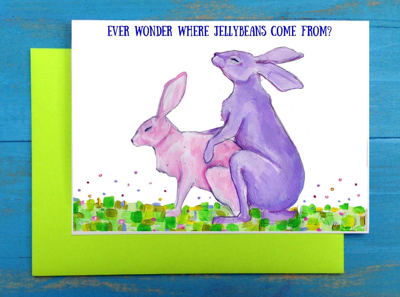 Osterhasen schleppen Ostern Grußkarte | Etsy