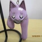Purple Little Kitty dangle earrings
