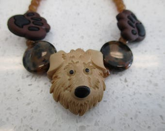 Shaggy Dog beaded bracelet