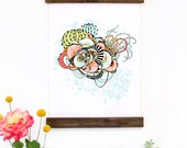 Wall Art - Hanging Canvas Art Print - Inspired by Vintage Botanical Charts and Vintage Science Posters, Fine Art Print, Art Poster - Wonder