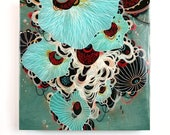 Deluge - Resin-Coated Art Print on Wood Panel