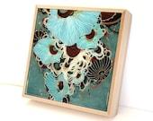 Deluge - Resin-Coated Print on Wood Panel