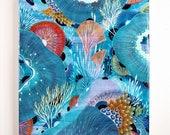 Vanish - Resin-Coated Art Print on Wood Panel