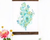 Wall Art - Hanging Canvas Art Print - Inspired by Vintage Botanical Charts and Vintage Science Posters, Fine Art Print, Poster - Underwater