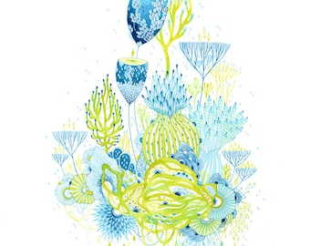 Giclee Fine Art Print - Lively - Watercolor painting