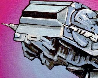ATAT Walker on Pink- Digital PRINT 8.5x11 from original Painting