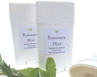 Natural Deodorant, Rosemary Mint, Organic Ingredients, No Aluminum Deodorant, Cruelty Free, Personal Care, Feminine Deodorant