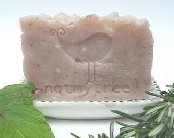 Rosemary Mint Soap, Handmade Soap, Vegan Soap, Natural Soap, Dye Free Soap, Homemade Soap, Stocking Stuffer for Women, Beauty Gift