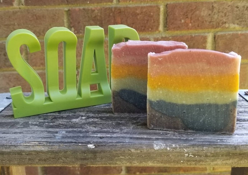 Rainbow Soap Pride Month Natural Soap Handmade Soap Citrus image 0