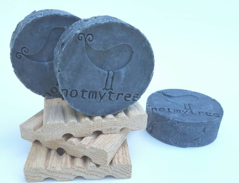 Charcoal Clay Soap Face Soap Vegan Soap Handmade Soap Old image 0