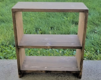 End Table with Storage Nightstand Dorm Room Bookshelf Office Decor Modern Side Table, Custom Paint & Dimensions