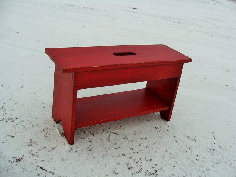 Entryway Bench, Shoe Storage, Coffee Table, Organizer Entry Way Benches  Wooden Bench Custom Old Red