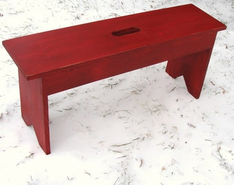 Entryway Bench, Outdoor Furniture, Rustic Bench, Mudroom Bench, Garden Bench, Wood Bench, Custom Size & Colors