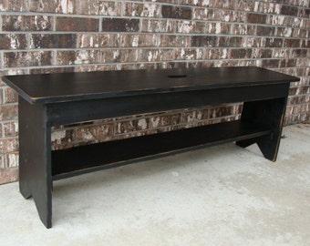 Entryway Bench, Shoe Storage,  Mudroom Bench, Coffee Table,  Patio Garden Bench, Extra Seating in Dining Room, Custom, Black