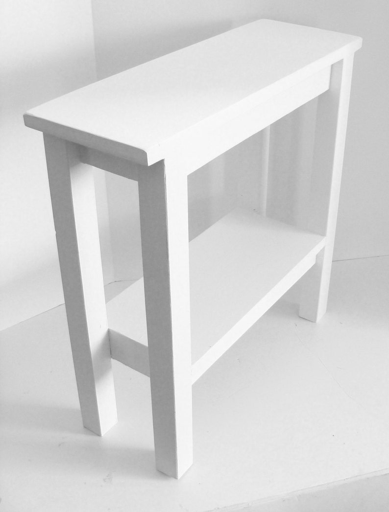 Narrow End Table Entryway Console Table Chair Side Table Etsy
