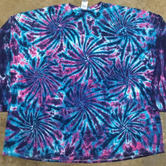 58a4fbd55c4d tie dye long sleeve 5XL Pink Fireworks Shirt longsleeve tye