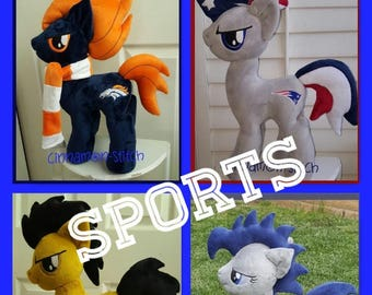 my little pony custom Made to Order  plushie SPORTS