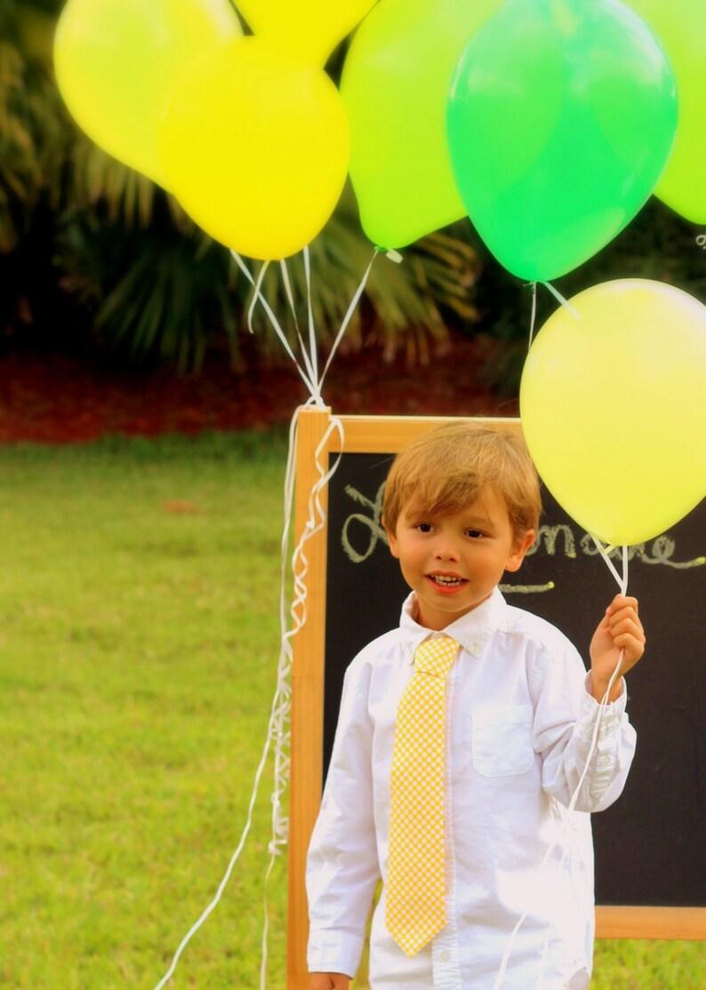 Boys Dot Yellow Necktie  white polka dot on golden neck tie  image 0