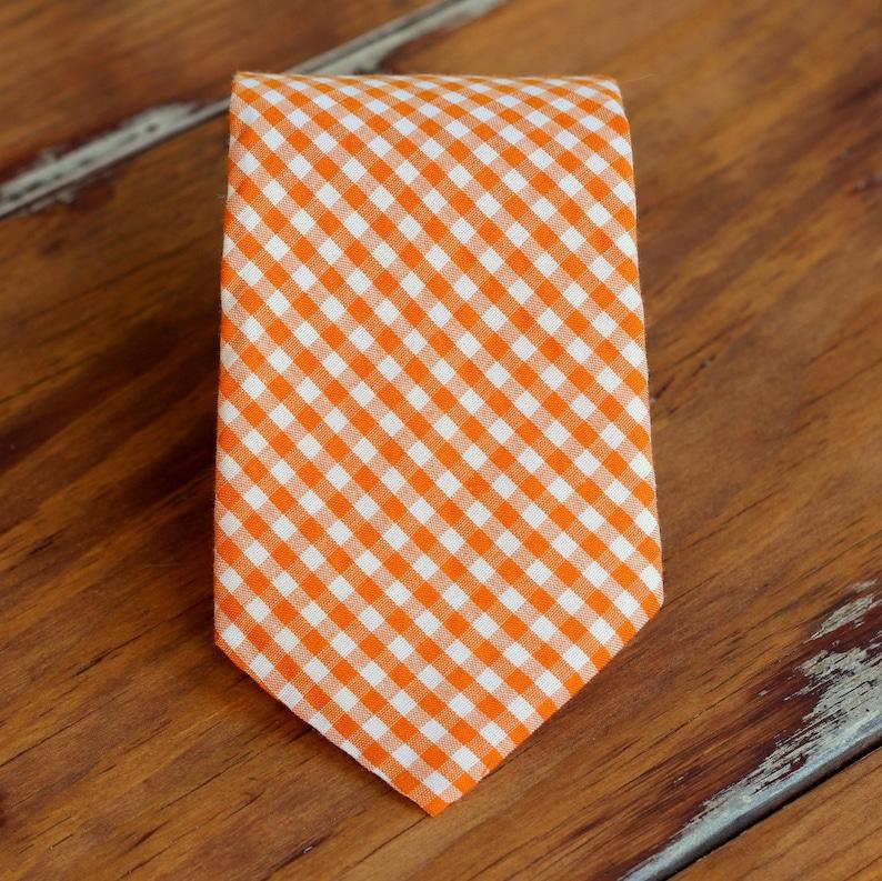 Boys Easter gingham necktie multi necktie for infant baby image 0