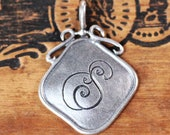 Sterling Silver Engraved initial necklace, Ready To Ship, single initial necklace, custom wedding monogram, personalized initial necklace