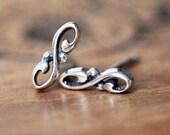 Infinity Mini stud earrings, minimal earrings, sterling silver dainty studs, silver infinity earrings, second hole earrings, Valentines day
