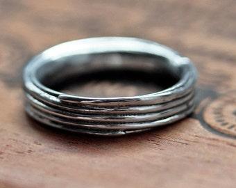 Mens silver wedding band, mens silver ring, mens wedding ring, mens wedding band silver, silver mens ring, coil ring, pirouette, custom