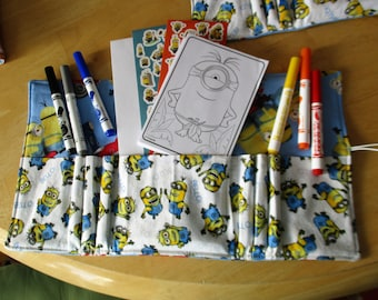 Travel sized kids drawing kit in popular charactors