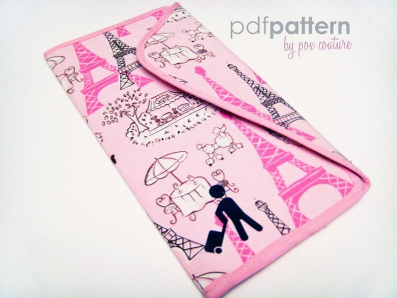 Passport and Ticket Holder PDF SEWING PATTERN image 0