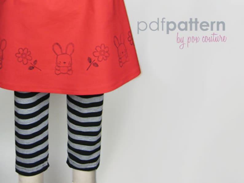 Pant Leggings  PDF PATTERN and Instructions 18m-6 epattern image 0