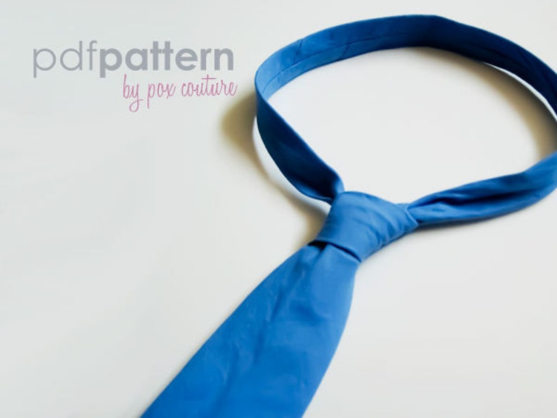 Skinny Necktie  PDF PATTERN and Instructions : Ages 3-8 image 0