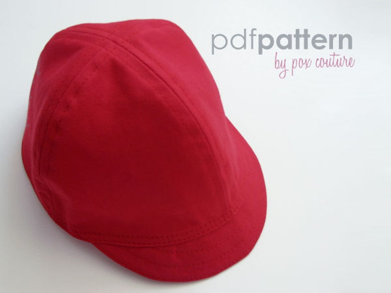 Kids Summer Cap  PDF Sewing Pattern and Instructions image 0