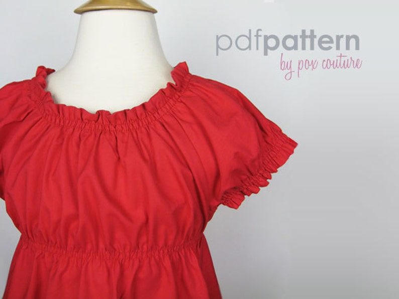 Peasant Dress  PDF PATTERN and Instructions 18m-6T image 0