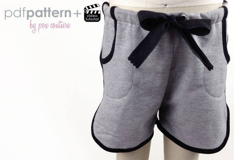 Tyler Knit Shorts  PDF PATTERN and Instructions 2T-6 image 0