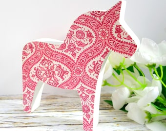 Dala Horse wooden ornament: Nordic / Scandi decoration