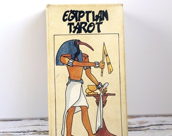 Vintage Tarot Cards: Egyptian Deck. Complete pack with illustrations by Esther Casla.