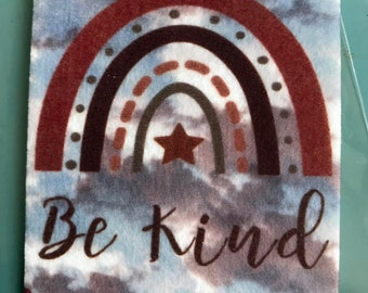 Be Kind. Air Freshener • Car Scent • Hobo rainbow. Car Accessories • Car Air. fresh car. Affirmation. Star. Rainbow