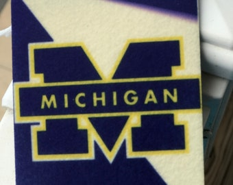University of Michigan  air freshener. scented or unscented   UOM Maize and Blue