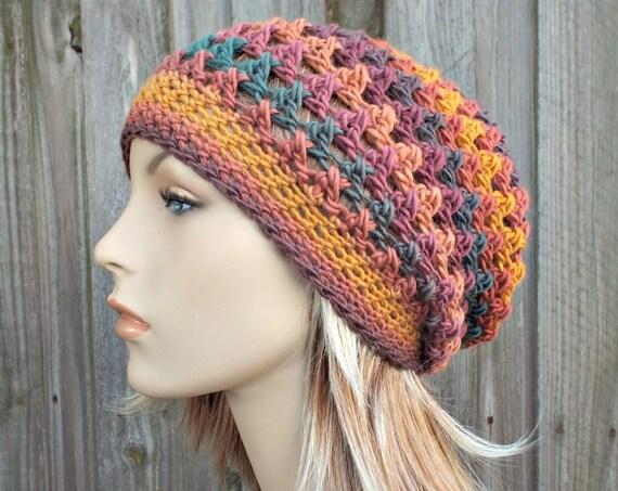 Instant Download Crochet Pattern - Hat Crochet Pattern - Womens Crochet Hat Pattern Criss Cross Beanie and Slouchy Hat - Womens Hat Pattern