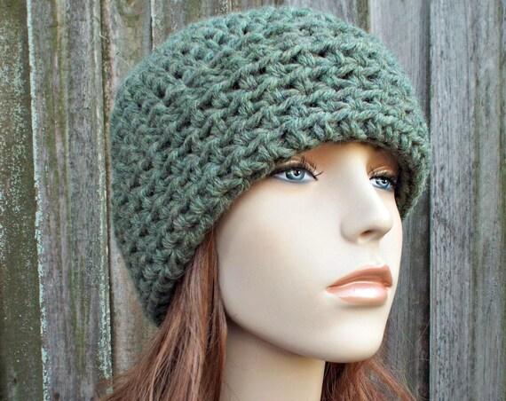 0f9ea711de7559 Green Watchman Hat Green Crochet Hat Green Womens Hat Green Mens Hat -  Green Hat Green