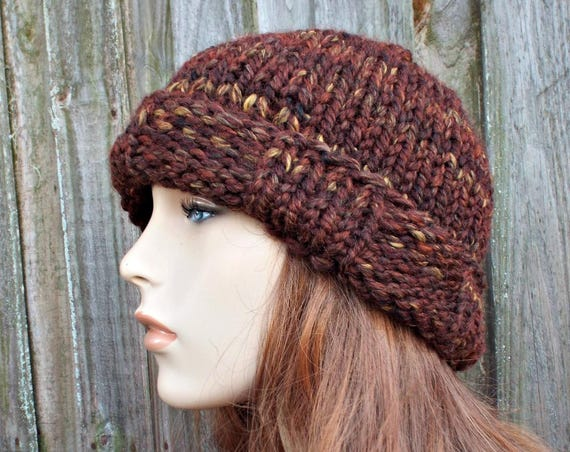 Chunky Knit Hat Women - Brown Beanie Brown Hat - Sequoia Brown Knit Hat - Hat Womens Accessories Winter Hat - Phineas Beanie