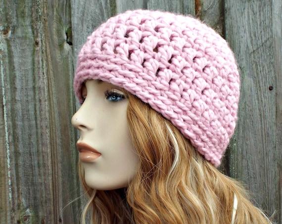 f656f960032 Blossom Pink Beanie - Pink Crochet Hat Pink Womens Hat Pink Mens Hat - Warm  Winter