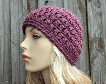 Winter Beanie Warm Hat Purple Hat Purple Beanie Fig Purple Knit Hat Purple Womens Hat Mens Hat Waffle Beanie