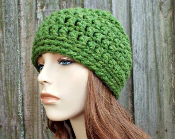 Grass Green Beanie - Green Crochet Hat Green Womens Hat Green Mens Hat - Warm Winter Hat Green Hat