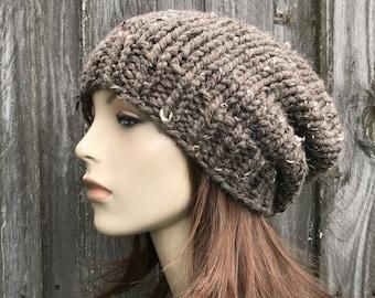 Chunky Knit Hat, Mens Beanie, Womens Beanie, Mens Hat, Womens Hat, Slouchy Beanie, Winter Hat, Knit Beanie, Toque Beanie, Barley