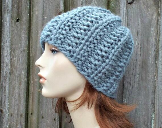 Twilight Beanie - Slate Grey Mens Hat Grey Womens Hat - Chunky Warm Winter Beanie Knit Accessories - Grey Hat Grey Beanie - READY TO SHIP