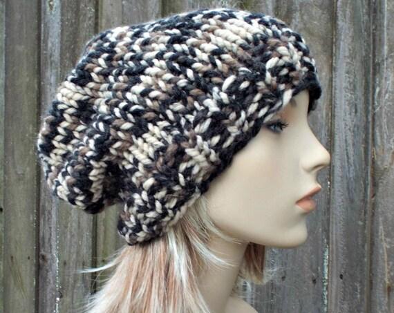 Chunky Knit Hat Womens Mens Desert Camo Beanie - Desert Knit Hat Desert Camo Hat Desert Beanie Desert Winter Hat