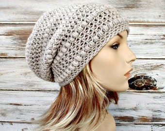Instant Download Crochet Pattern - Hat Crochet Pattern - Womens Crochet Hat  Pattern for Penelope Puff Stitch Beret and Slouchy Hat 21be3f6ce