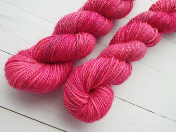 Hand Dyed Sock Yarn Superwash Wool Nylon 80/20 Fingering Weight Yarn Sock Yarn 50 Grams Tonal Yarn Pink Yarn Speckled Yarn - Pant Suit Pink